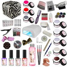 UV GEL SET XXXL Set principianti Nagelstudioset Manicure Set unghie W/W/Zebra
