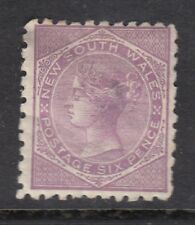 NEW SOUTH WALES 1871-02    6d   pale lilac  QV    P10   SG 217a - Mounted mint