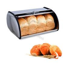 Stainless Steel Bread Box Storage Bin Keeper Food Container Kitchen 34X23.5X15cm