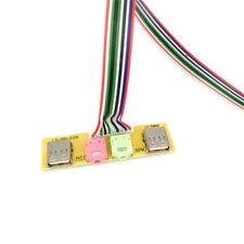 2 USB PC Computer Case 7.8cm Front Panel USB Audio Port Mic Kopfhörer Kable 65cm