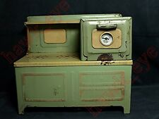 VINTAGE DELUXE CHILDREN'S ELECTRIC STOVE RANGE W/ ORIGINAL TEMP GAUGE HTF