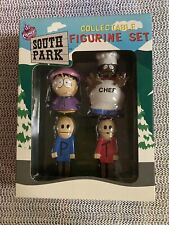 New listing 1998 South Park Collectable Figurine Set (4) Chef, Wendy, Terrance, Phillip