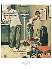 "Norman Rockwell ""DOCTOR'S OFFICE"" print ""BEFORE THE SHOT"" health care vaccine"