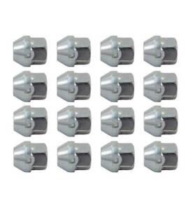 16x Open Steel/Alloy Wheel Nut M12x1.5mm 21mm Head 60 Degree Seat - Ford Honda