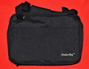 Freedom Bag Travel Case Makeup Toiletries Large QVC Organizer Bag Case Black