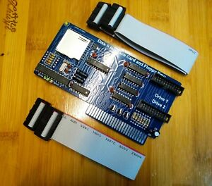2 in 1 Disk ii interface + Floppy Emu + 2 cables for Apple ii iie Laser128