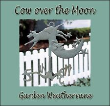 Whitehall Cow Over the Moon Garden Weathervane with Mount Verdigris Rust Free