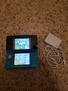 Nintendo 3DS Console - Aqua Blue Bundle sims 2 see description