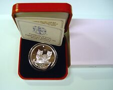 Isle of Man 1 CROWN 2003 Balinais Chat Argent PP