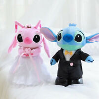 2pcs cute Lilo&stitch couple wedding stitch stuffed plush soft doll dolls
