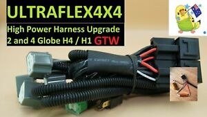 Ultraflex4x4 GTW Harness LED  or 130W Halogen .. UPGRADE. up to 4 globes.