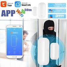 Wireless WIFI Smart Door Window Gap Contact Sensor Bell Chime Alarm Alexa C3C7