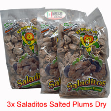 3x Saladitos Sal (Salted dry plums) 3x1LB bags Mexican candy