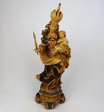 Holzfigur Madonna mit Kind, PATRONA BAVARIA, geschnitzt Südtirol