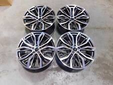 "22"" Staggered X5 X6 375M Style Alloy Wheels Gun Metal Machined BMW E70 F15 F16"