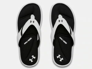 Under Armour Mens Ignite III Athletic Sandals Flip Flop - White - New 2021