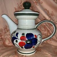 Vintage Waechtersbach West Germany Hand Painted  Floral Tea Pot