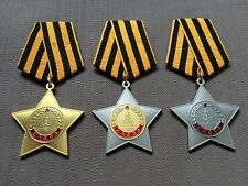 USSR WW2 ORDERS OF MILITARY GLORY 1 2 3 CLASS FULL SET GROUP (reproduction copy)
