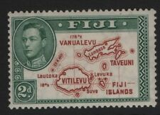 Fiji SG253  2d  Brown & Green  Die I 1938-55  KGVI Mounted Mint