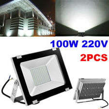 2x 100w LED Flood Light Outdoor Garden Landscape Wall Spot Lamp Bulb Floodlight