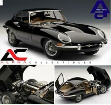 AUTOART 73611 1:18 JAGUAR E-TYPE COUPE BLACK SERIES 1 3.8 W/METAL WIRE WHEELS