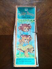 Whitman Teddy Bears Paper Dolls Vtg box set 2 dolls 25 piece wardrobe 1979