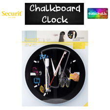 Chalkboard Clock - Design Your Own Clock Face Easy Clean *Free Chalk Pen*
