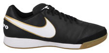 Nike Tiempox Genio II Leather IC Indoor Soccer Futsal Black White Gold Mens 12