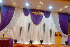 6X3M Pleated Wedding Backdrop Curtain Background Fairy Sparkly Sequin for SALE