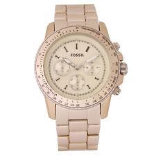 Fossil Stella Champagne Ladies Aluminum Chronograph Watch CH2708