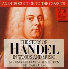 NEW THE STORY OF HANDEL IN WORDS AND MUSIC CD RARE MUSICAL SELECTIONS VOX 1993