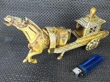 alte Knochen Schnitzerei Pferdewagen Sänfte Kaiser v China Terracotta Pferd bone