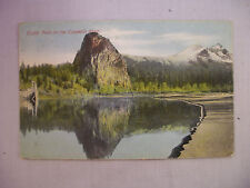 Vintage Postcard With A View Of Castle Rock On The Colubia River In Oregon 1910