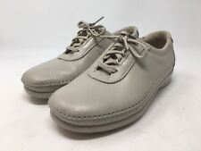 SAS Tripad Comfort Womens Shoes Oxford Lace Up Tie Shoes Beige Leather Sz 7.5 WW