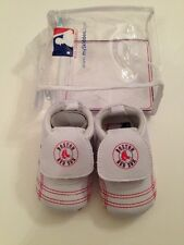 MLB Boston Red Sox Baby Boy Girl Shoes Soft Sole Size 18-24 Months 6-7 White Red