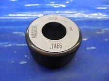 7455 Class X Master Plain Bore Ring Gage 7500 0045 Undersize 34 18936 Mm