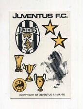 Adesivo JUVENTUS F.C. Anni 80 Scudetti 2 stelline Coppe STICKER Juve calcio