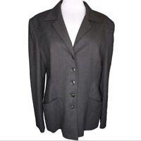 Escada Wool Blend Dark Gray Blazer Size DE 42 US Women's 12