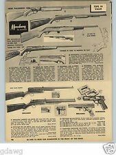 1960 PAPER AD Mossberg Palomino 400 Lever Action Rifle Benjamin Air Rifle BB Gun