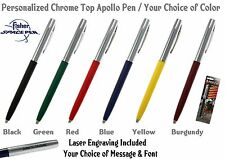 One Fisher Space Pen / Personalized Chrome Top Apollo Ball Point Pen