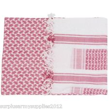 Web-Tex Military Shemagh 100 Cotton Army Face Disguise Head Sand Scarf SAS Arab Red & White