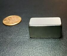 "1 Neodymium N52 Grade Block Magnet Super Strong Rare Earth Bar 1"" X 1/2"" X 1/2"""