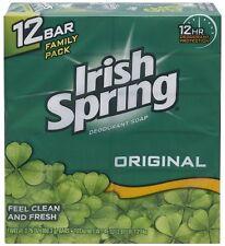 Irish Spring Bath Bar Soap, Original, 12 Bars of 3.75 oz. Each