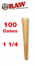 RAW Classic 1 1/4  Size Pre-Rolled Cones (100 Pack) Authentic Free Shipping