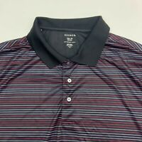 George Polo Shirt Mens XXL Multicolor Stripe Short Sleeve Casual Golf Polyester