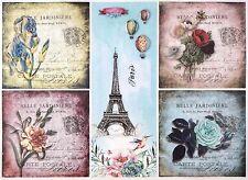 Carta di riso per Decoupage Decopatch Scrapbook Craft sheet A/3 fiore vintage di una stessa