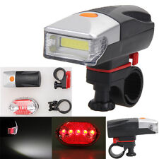 5W COB LED Bicycle Bike Cycling Front Rear Tail Light+Night Safery Warning Lamp
