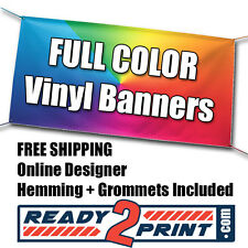 3' X 8' Full Color Custom Printed Banner, 13oz Vinyl - FREE SHIPPING