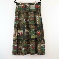 Vintage Geiger Women's Horseback Riding Equestrian Themed Midi Skirt Size 44 XL