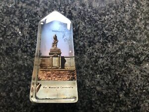 Cenotaph Paperweight Showing WAR MEMORIAL CARNOUSTIE ANGUS